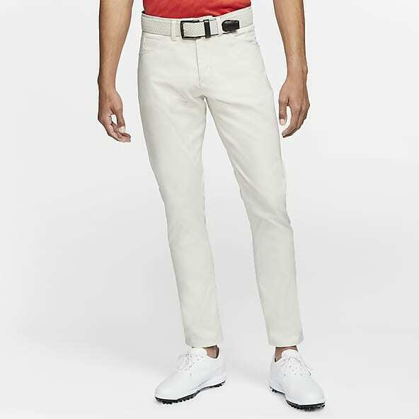 Nike Mens 6 Pocket White Slim/Dri Fit Golf Pants - New - $85