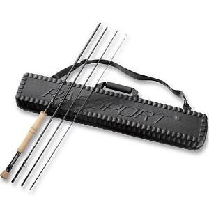 NEW FLY FISHERMAN PASSPORT CASE INCLUDE 6 WEIGHT 4 PC ROD AND CASE - FISHING FLY RODS CASES TRAVEL PORTABLE 100663769