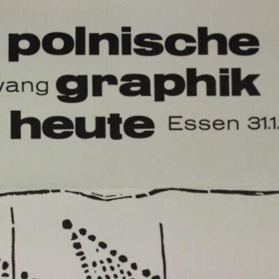 Polnische Grafik Heute altes Plakat 1965 Museum Folkwang Essen 60er Jahre alt