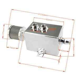2L Universal Aluminium-Oil Catch Can-Behälter mit Entlüfter +Filter Ablasshahn