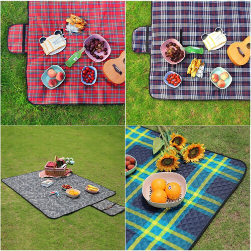 large waterproof outdoor garden bbq picnic blanket