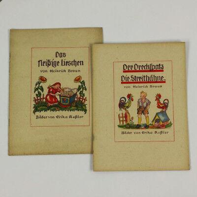 2 Kinder Bilder Bücher Heinrich Braun 1946 Das fleißige Lieschen Der Dreckspatz