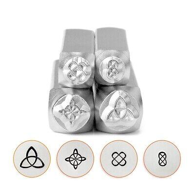Celtic Mandala Design Metal Stamping Set 4pc, ImpressArt Jewelry Punches (Celtic Set Jewelry Set)