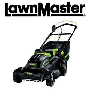 """USED LAWNMASTER ELECTRIC LAWN MOWER MEB1014M B 201856610 W/ COLLECTION BAG 15"""""""