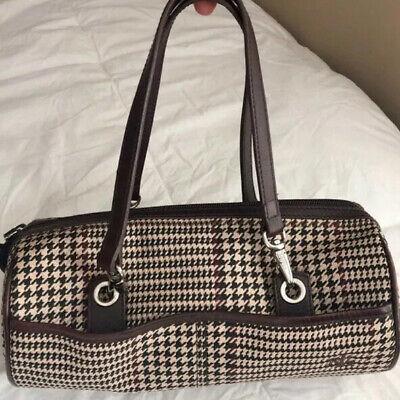 Lauren Ralph Lauren Rare Vintage Houndstooth Bullet Bag