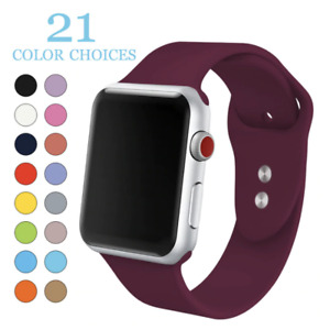 All colours Apple Watch sports bands silicone series 4 3 2 1