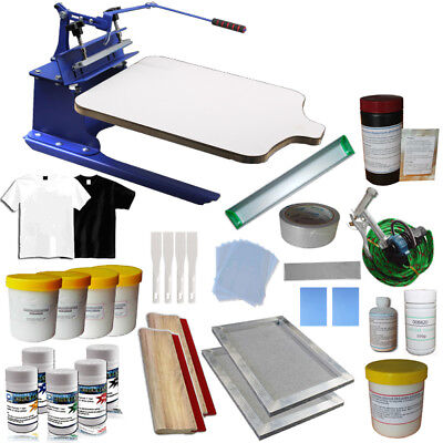 Techtongda 1 Color Screen Printing Press Kit Diy Silk Screen Printer Supply Kit