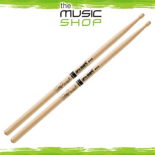 New Set of Promark Hickory SD9 Teddy Campbell Drumsticks with Wood Tips - TXSD9W