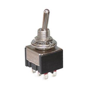 Miniatur Kipptaster 2-polig 6 Kontakte 4 x Schließer 3 Stellungen 7747