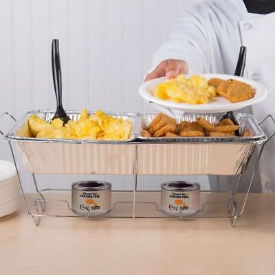 Disposable Chafer Dishes (18-Piece Full Size Disposable Buffet, Catering, Party, Picnic Chafer Dish)