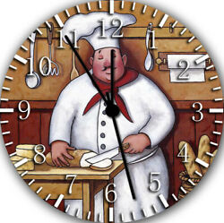 Fat Chef Frameless Borderless Wall Clock Nice For Gifts or Decor G01