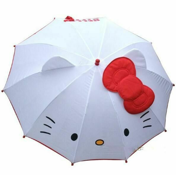 Cute Umbrella Hello Kitty Children Anime Umbrella for Kids G