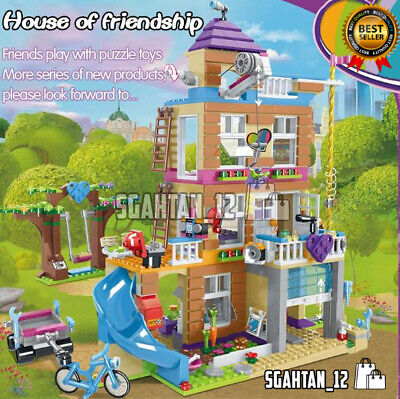 868Pcs Friends Heartlake Friendship House Building Set Olivia, Emma,Mini-Figures