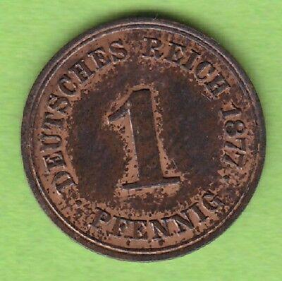 Kaiserreich 1 Pfennig 1877 A sehr schön seltener Jahrgang nswleipzig