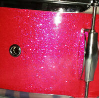"""Hot Pink Sparkle 14"""" Wood snare drum"""