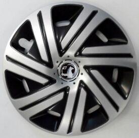 4x16'' Wheel trims fit VAUXHALL ASTRA VECTRA ZAFIRA - black/silver 16''