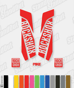 RockShox PIKE 2015 2016 Style Decals Stickers - Custom / Fluorescent Colours