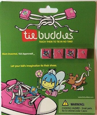 Tie Buddies Teach Learn To Tie Shoe Helper Accessory Lace Pink Fairy Wands (Teach To Tie Shoes)