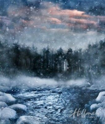 Hoffman Call Of The Wild Digital P4357 147 Storm River Scenic 1 Yard Panel
