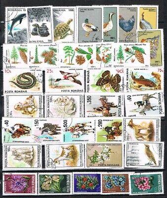 Jimace29 Romania, Birds, Flowers, Animals- Lot of 35--NICE