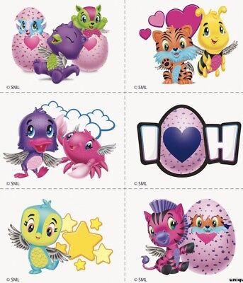 6 Hatchimals Colleggtibles Temporary Tattoos  Toy Draggle Collectibles Penguala