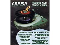 MASA RECORD FAIR SUNDAY JULY 30 @ CRESTA COURT HOTEL ALTRINCHAM