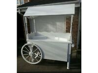 Beautiful sweet cart for sale with sweet jars