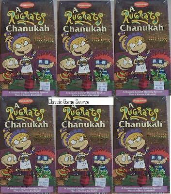 6 LOT RUG RATS CHANUKAH CHRISTMAS MOVIE ON VHS (NEW)