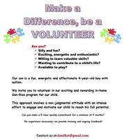 Make a Difference, be a VOLUNTEER