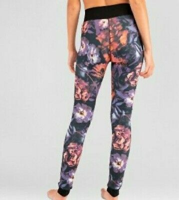 Wander By Hottotties Thermal Purple Flower Level 3 Leggings With Velvet Large...