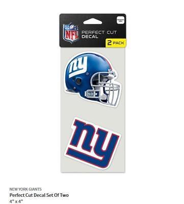 New York Giants 2 Aufkleber Helm + Logo Decal Badge Emblem NFL Football