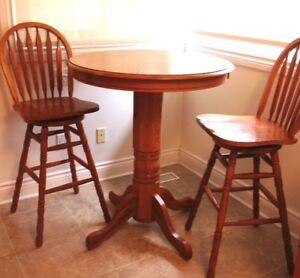 Solid oak pub set