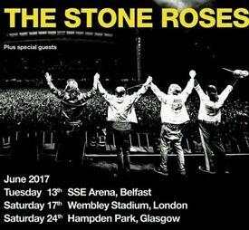 4 Stone Roses Wembley tickets + return travel+ accommodation