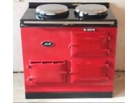 2 Oven Oil (or 13amp Electric) Aga Mint Condition Pillar Box Red INCLUDING INSTALLATION