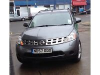 NISSAN MURANO, 4WD, SUV, AUTOMATIC, JEEP,NEW MOT, reduced for quick sale, sat nav, leather, GPS