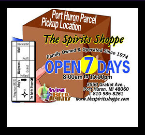 parcel pick up location