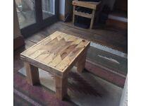 Navejo Reclaimed Wood Coffee Table Handmade Recycled Chunky