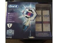 Oral-B smart series 4000 3D white toothbrush With perfection toothpaste & whitening accelerator!