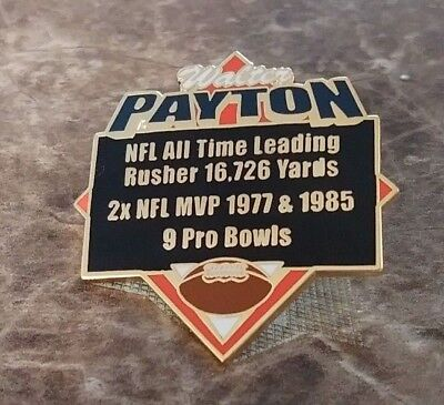 WALTER PAYTON CHICAGO BEARS NFL ALL TIME LEADING RUSHER COLLECTIBLE STATS PIN Nfl Collectible Pins