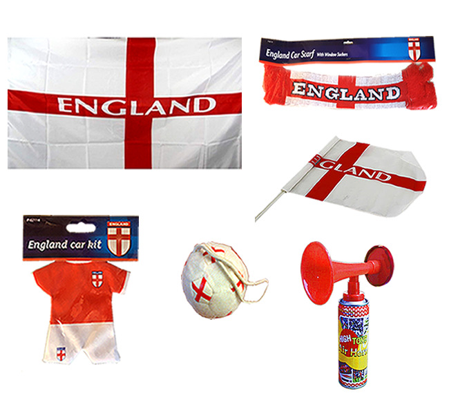 ENGLAND BANNER FLAG SCARF KIT CAR FLAG FOOTBALL AIR FRESHENER WORLD CUP EURO