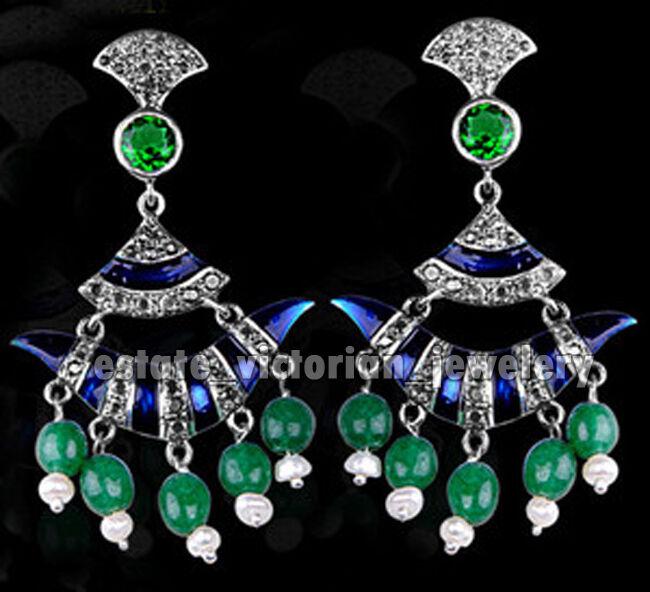 Amazing 2.56Ct Pave Rose Diamond Gemstone Studded Silver Vintage Earring Jewelry
