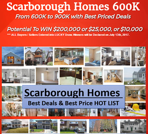 Scarborough Homes From $600,000 !!