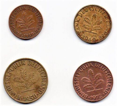 Germany 4 Coin Lot Circulated