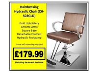 Hairdressing Hydraulic Styling Chair CH-S03GLD £179.99