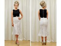 Two piece outfit size 8 black & white