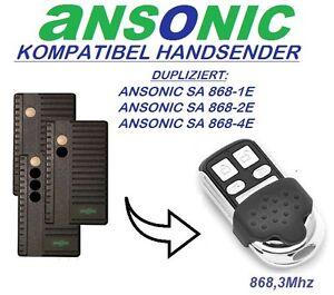 ANSONIC SA 868-1E,2E,4E Kompatibel handsender, 868,3Mhz Klone semder