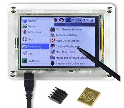 3.5 Tft Lcd Touch Screen Display 128m Spi Case For Raspberry Pi 3 B Zero W