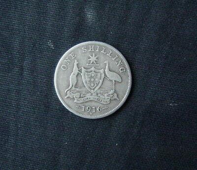 Munt Australië/Australia:  1 Shilling 1916 M (zilver)