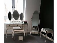 Dressing table ,mirror chair & side table