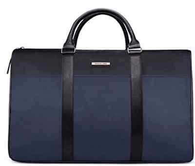 Michael Kors Large Jet Set Tote Duffle Travel overnight weekender bag Black/Blue